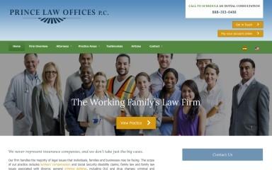 princelaw.com screenshot