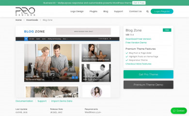 Blog Zone screenshot
