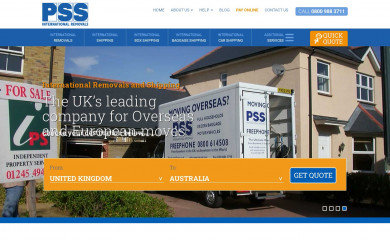 pssremovals.com screenshot