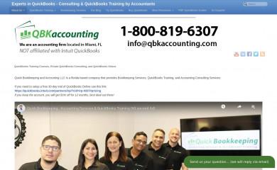http://quickbooks-training.net screenshot