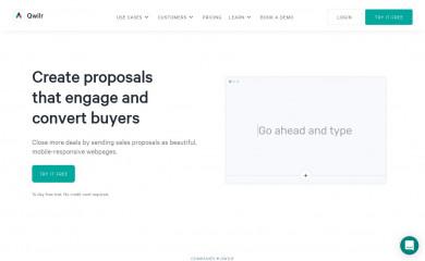 qwilr.com screenshot