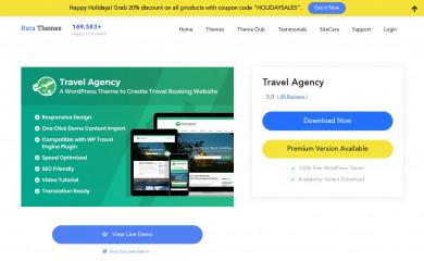 https://raratheme.com/wordpress-themes/travel-agency/ screenshot