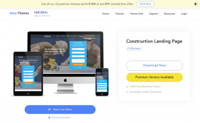 Construction Landing Page screenshot