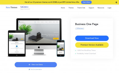 Business One Page screenshot