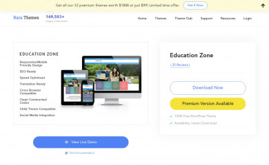 https://rarathemes.com/wordpress-themes/education-zone/ screenshot