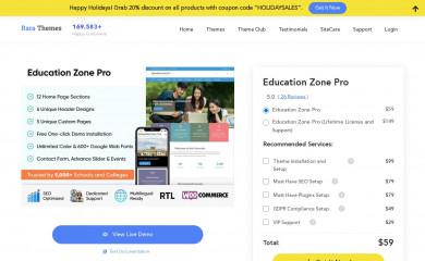https://rarathemes.com/wordpress-themes/education-zone-pro/ screenshot