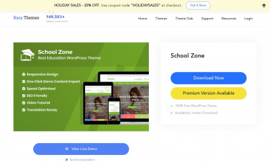 https://rarathemes.com/wordpress-themes/school-zone/ screenshot