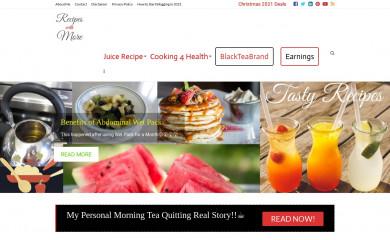 recipeswithmore.com screenshot