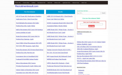 recruitmentresult.com screenshot