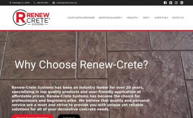 renewcrete.com screenshot