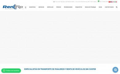 rentrip.com.mx screenshot