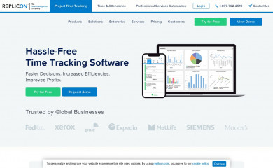 replicon.com screenshot