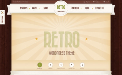 Retro - Premium Vintage WordPress Theme screenshot