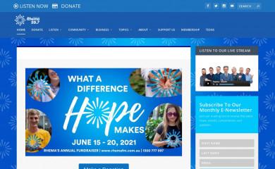 rhemafm.com.au screenshot