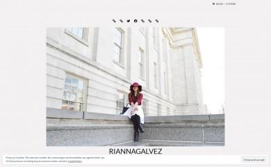riannagalvez.com screenshot