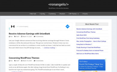ronangelo.com screenshot