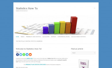 statisticshowto.com screenshot