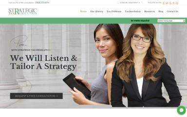 http://strategictaxresolution.com screenshot