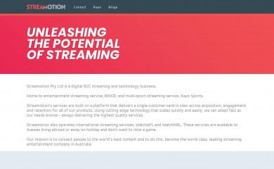streamotion.com.au screenshot