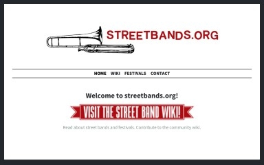 streetbands.org screenshot