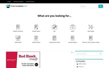 studyrankerstest.com screenshot