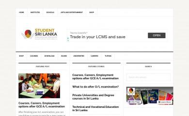 http://studentlanka.com screenshot