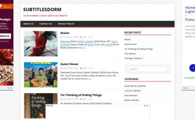 subtitlesdorm.com screenshot