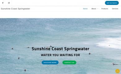 sunshinecoastspringwater.com.au screenshot