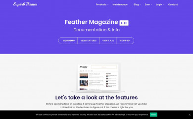 https://superbthemes.com/feather-mag/feather-magazine-info/ screenshot