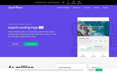 Superb Landingpage screenshot
