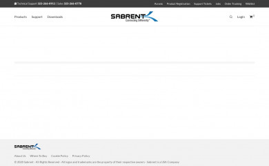 sabrent.com screenshot