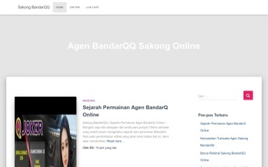 sakongbandarqq.com screenshot