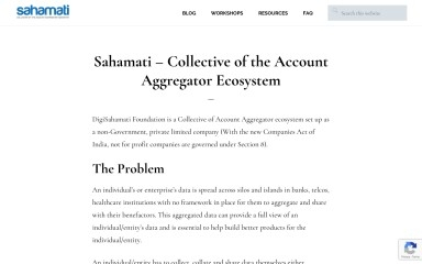 http://sahamati.org.in screenshot