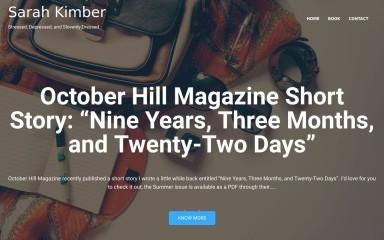 sarahkimber.com screenshot