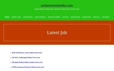 http://sarkariexamindia.com screenshot