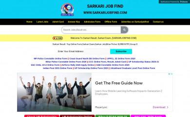 sarkarijobfind.com screenshot