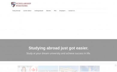 http://scholarship-positions.com screenshot