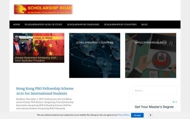 scholarshiproar.com screenshot
