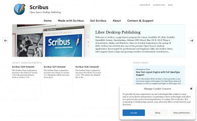 scribus.net screenshot