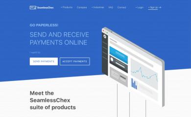 seamlesschex.com screenshot