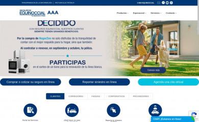 segurosequinoccial.com screenshot