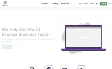 sertifi.com screenshot