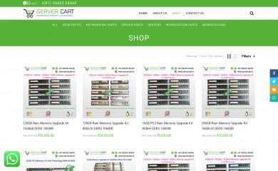 http://servercart.in screenshot