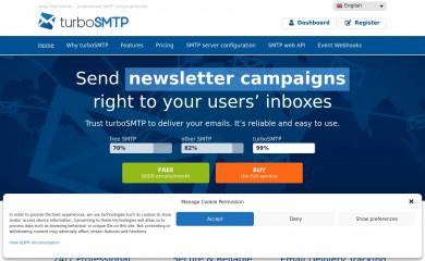 serversmtp.com screenshot