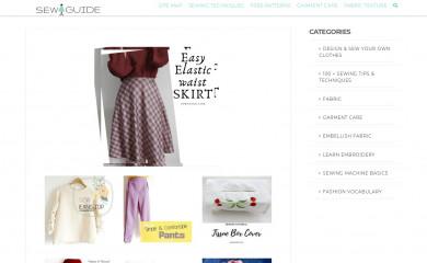http://sewguide.com screenshot