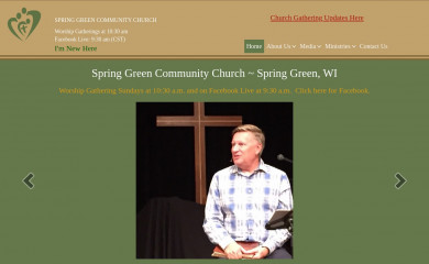 sgcommunitychurch.org screenshot