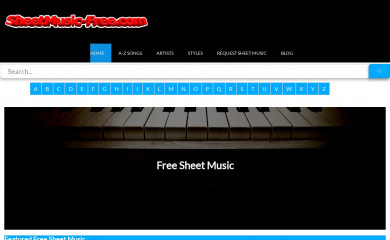 sheetmusic-free.com screenshot