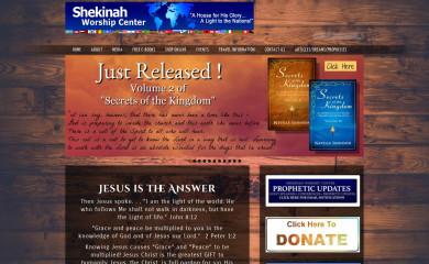 shekinahworship.com screenshot