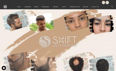 shifthairtransplant.com screenshot