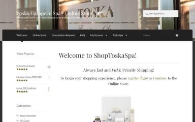 shoptoskaspa.com screenshot